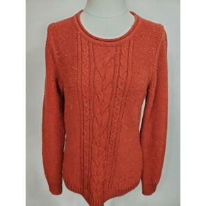 L.L. Bean Long Sleeve Cable-Knit Sweater Medium
